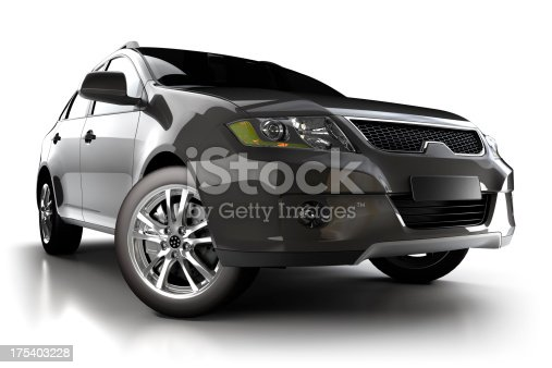 istock SUV Car in studio - isolated on white 175403228