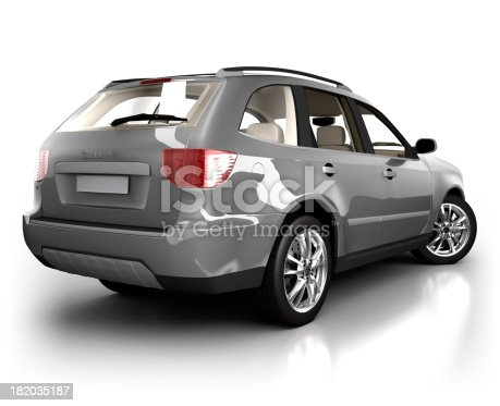 istock SUV Car in studio - isolated on white 182035187