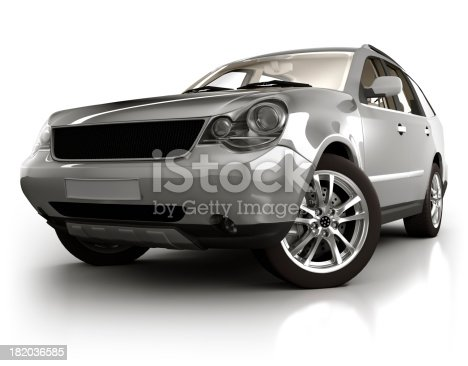 istock SUV Car in studio - isolated on white 182036585