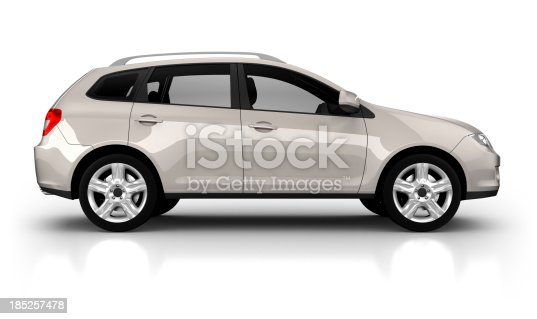 istock SUV Car in studio - isolated on white 185257478