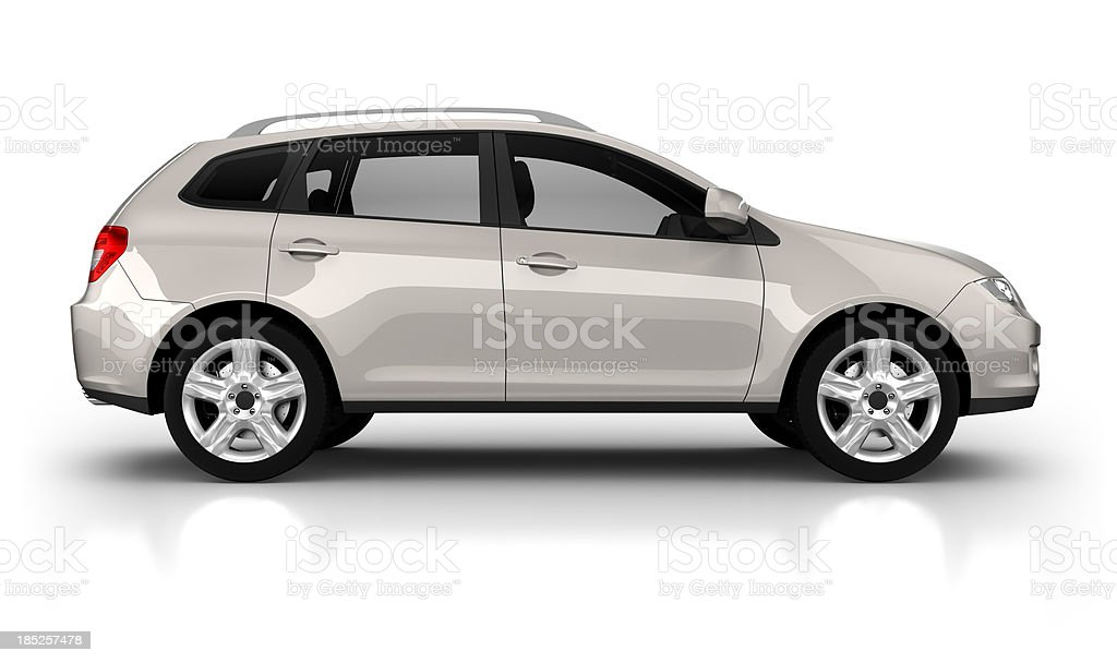SUV Car in studio - isolated on white stock photo