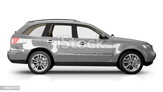 istock SUV Car in studio - isolated on white 185305123