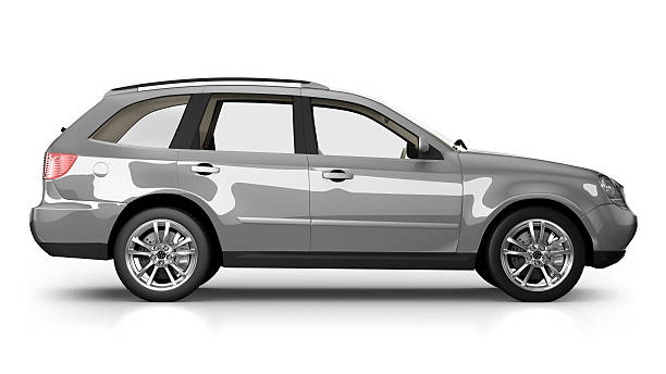 SUV Car in studio - isolated on white