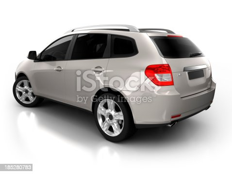 istock SUV Car in studio - isolated with clipping path 185280783