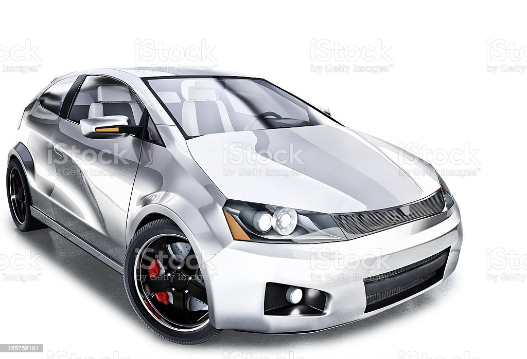 car in studio royalty-free stock photo