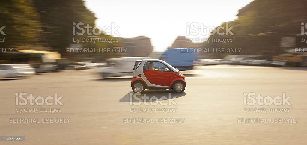Car in the Streets of Milan, Italy stock photo