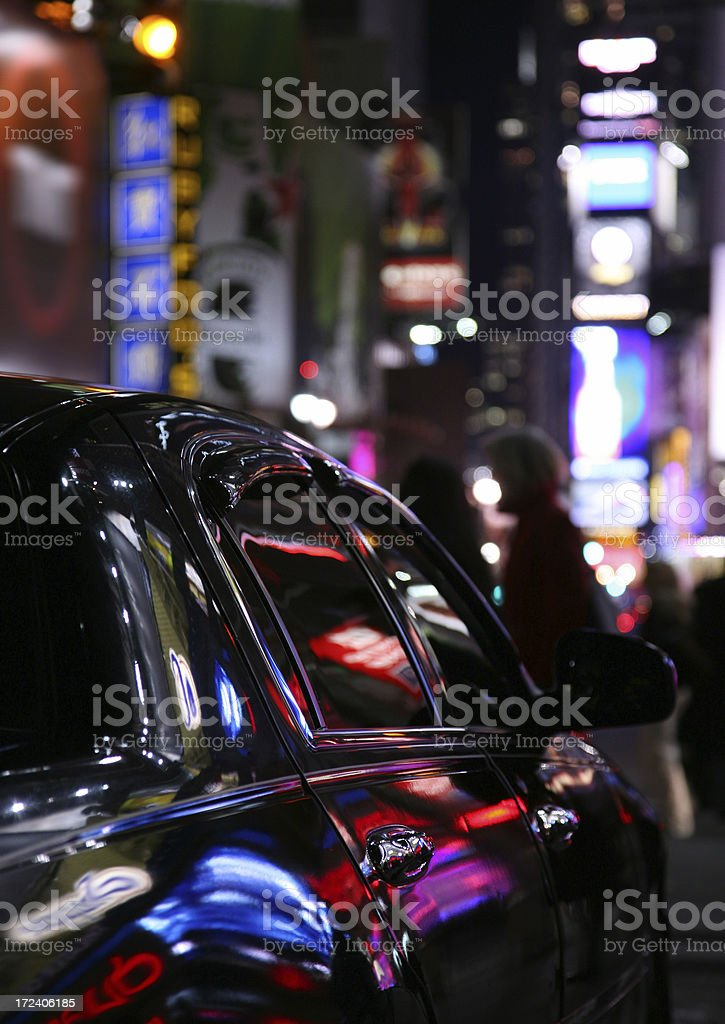Car In Times Square stock photo