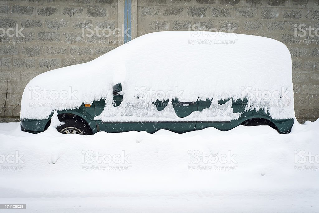 Car in winter royalty-free stock photo