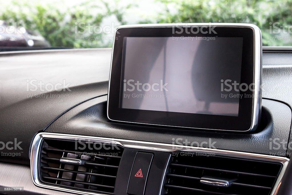 car information display stock photo