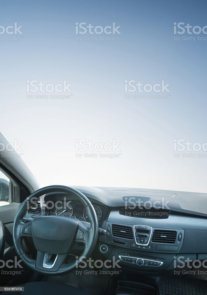 Car inside composition stock photo