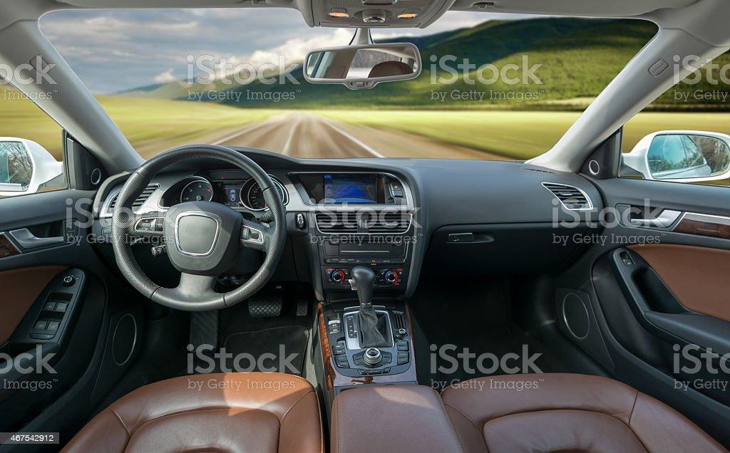 Car inside stock photo