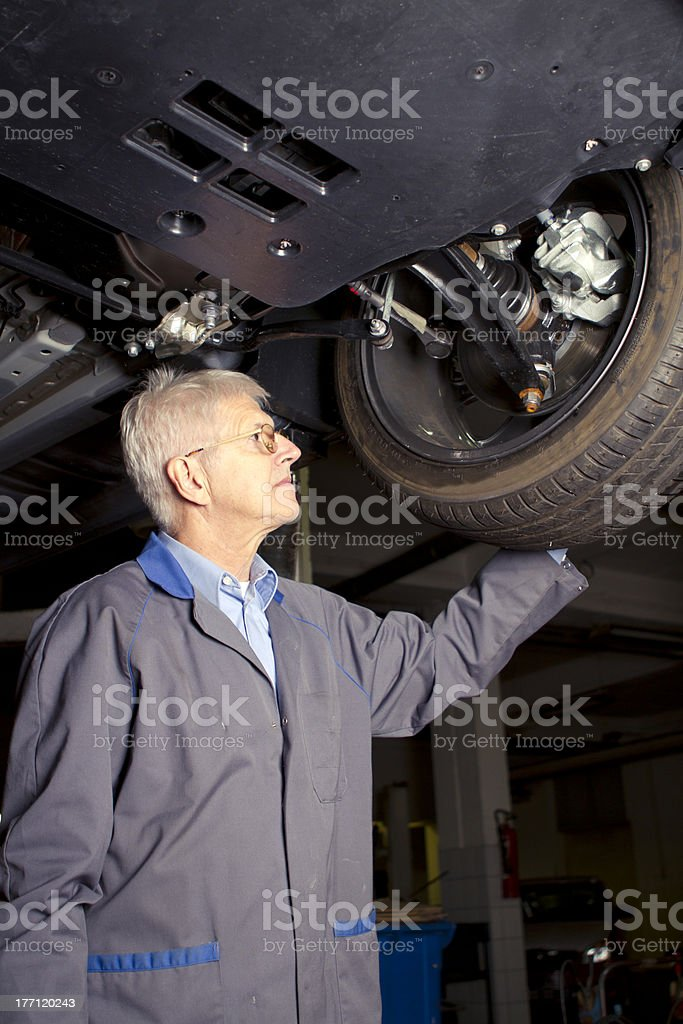 Car inspection royalty-free stock photo