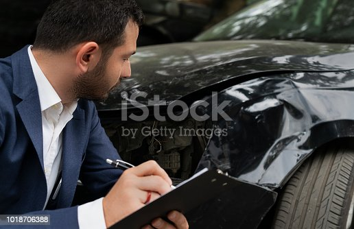 istock Car Insurance and Accident 1018706388