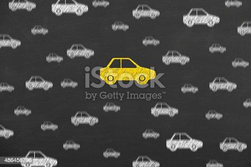 istock Car Insurance Concept Work on Blackboard 486456796