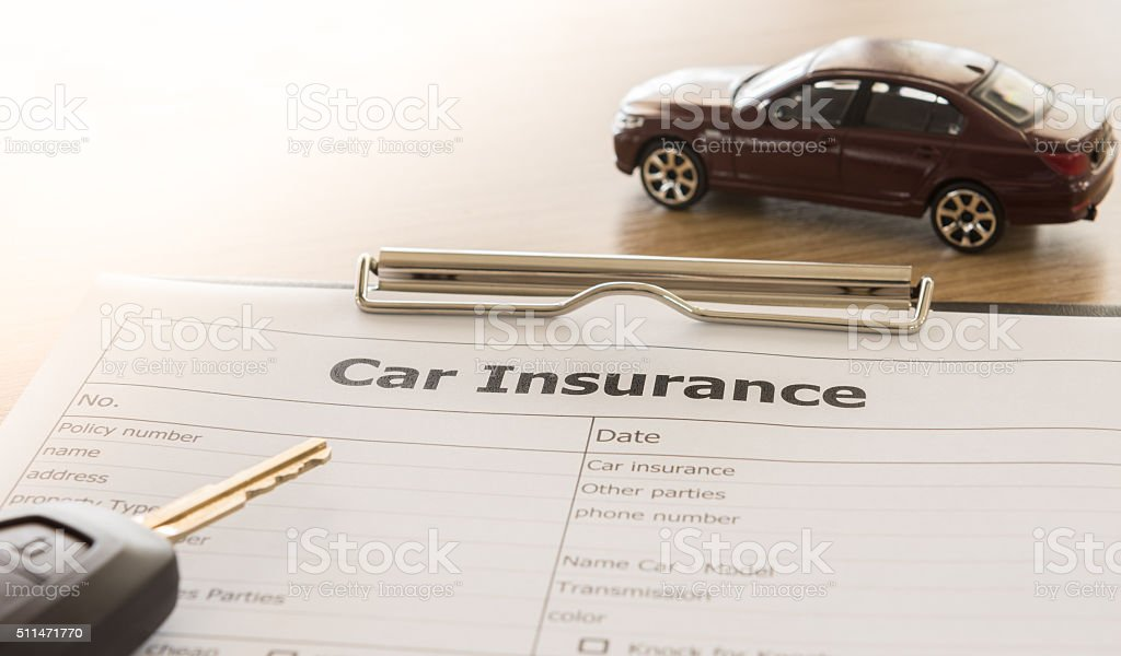 car insurances stock photo