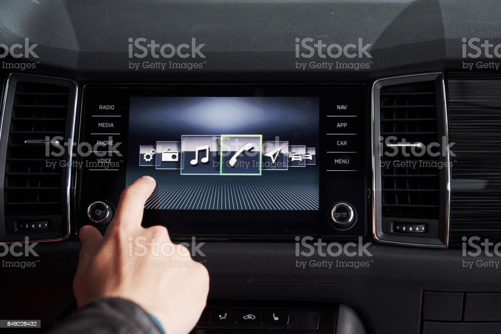 car interior - devices, the concept of driving. royalty-free stock photo
