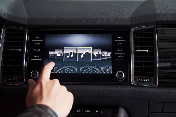 car interior - devices, the concept of driving. car interior - devices, the concept of driving dashboard vehicle part stock pictures, royalty-free photos & images