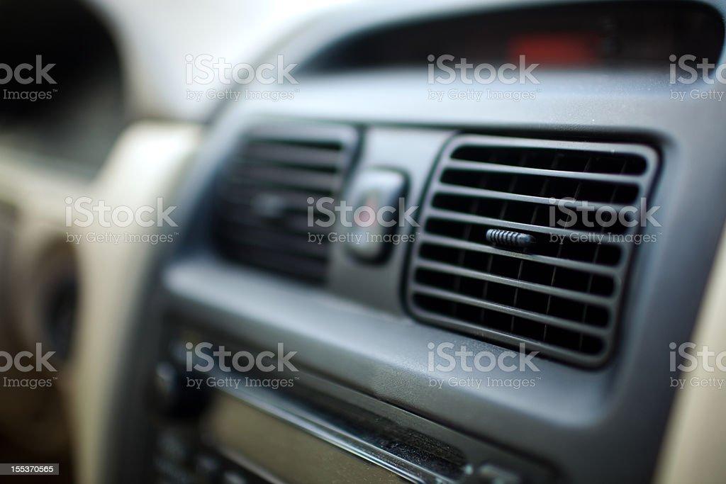 Car Interior Heater Vents stock photo