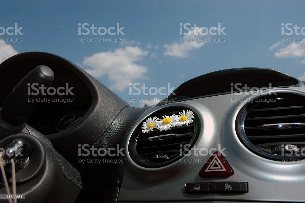 Interior de carro - foto de acervo