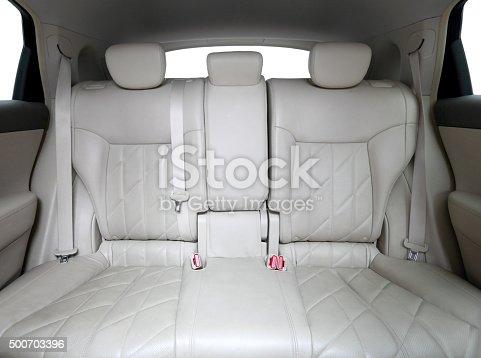 White leather seats.