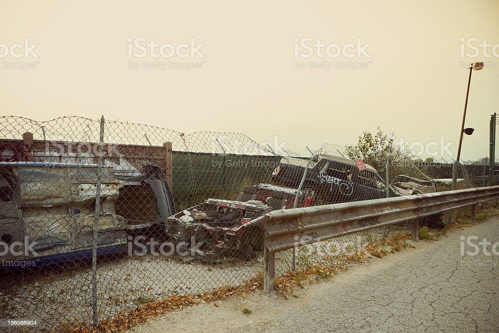 Car Junkyard royalty-free stock photo