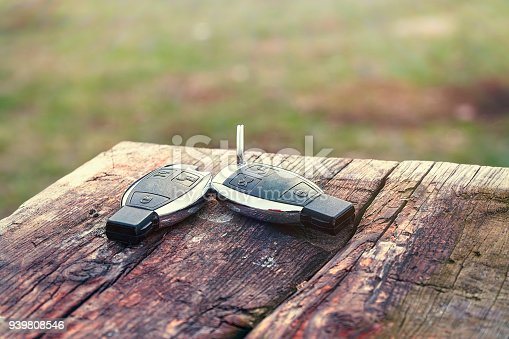 539841066 istock photo Car Key on the table close-up 939808546