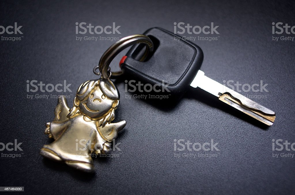 Car Key with fob stock photo