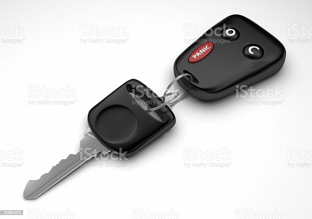 Car Key with Remote Control Accessory royalty-free stock photo