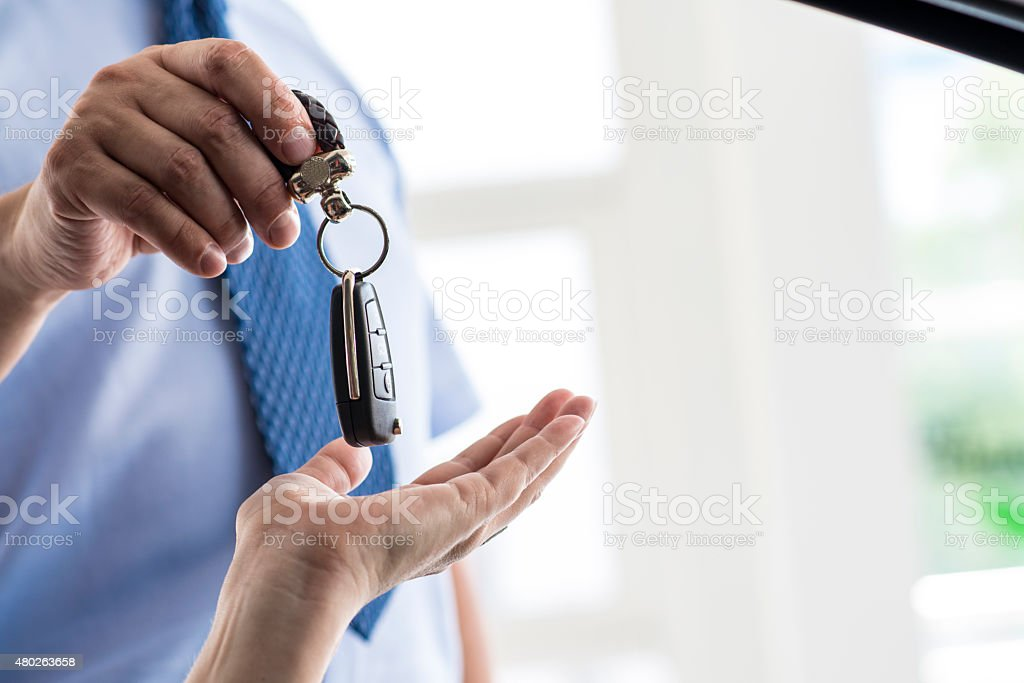 Car Keys of New Car stock photo