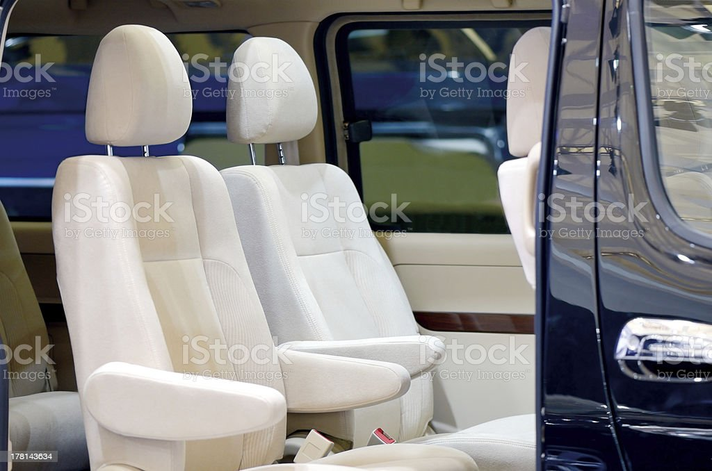 Car leather seat royalty-free stock photo