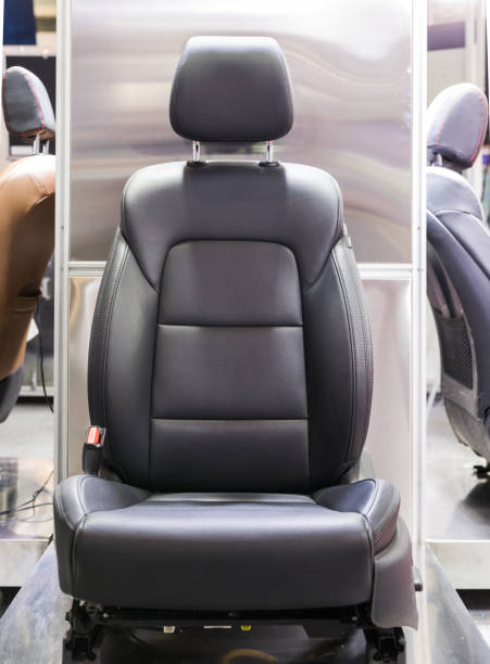 Car leather seat stock photo