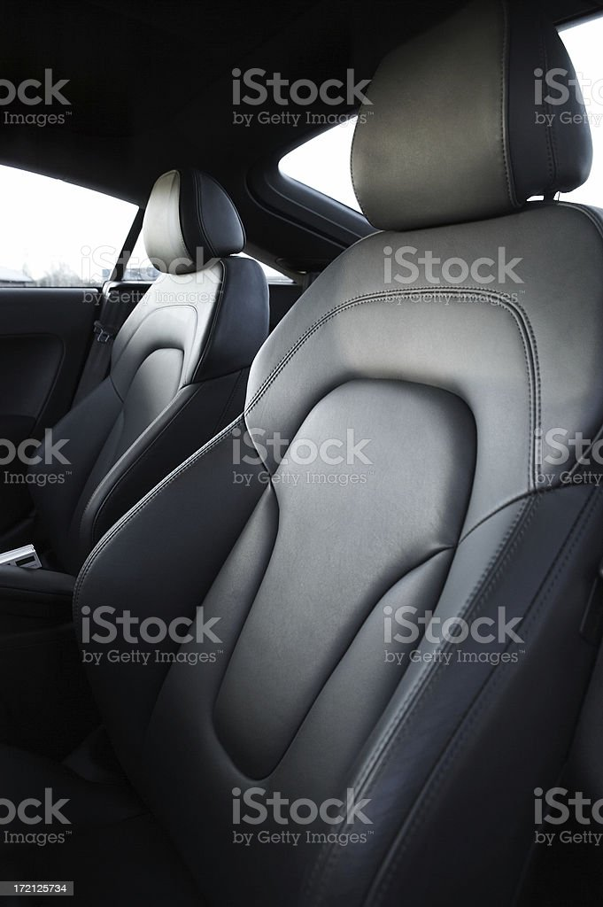 Car leather seats royalty-free stock photo