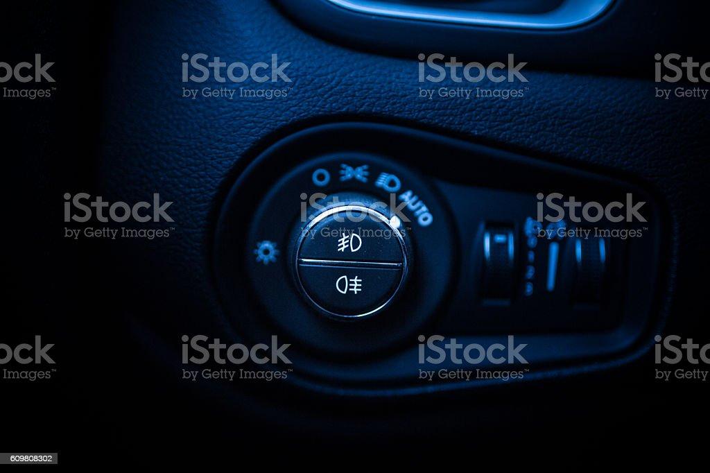 Car light control in car.