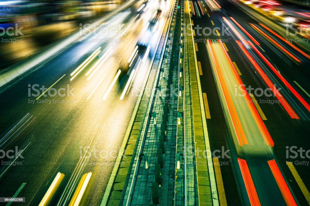 Car Light Trail at Night royalty-free stock photo