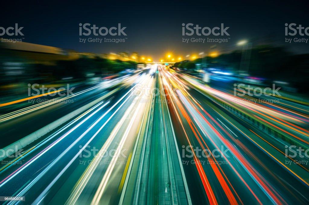 Car Light Trail at Night royalty-free stock photo