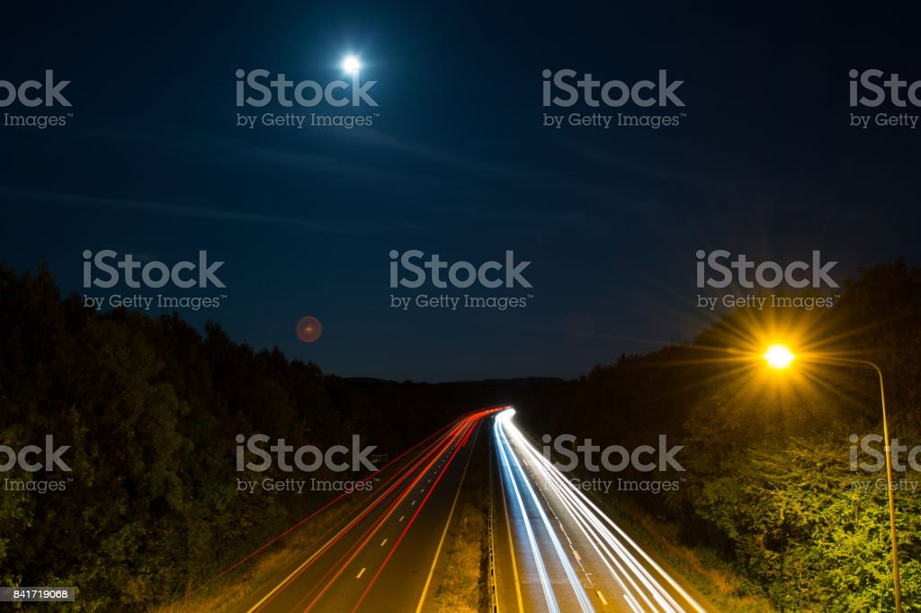 Car Lights Create Light Trails By Photographing With A Long Exposure Stock Images Page Everypixel
