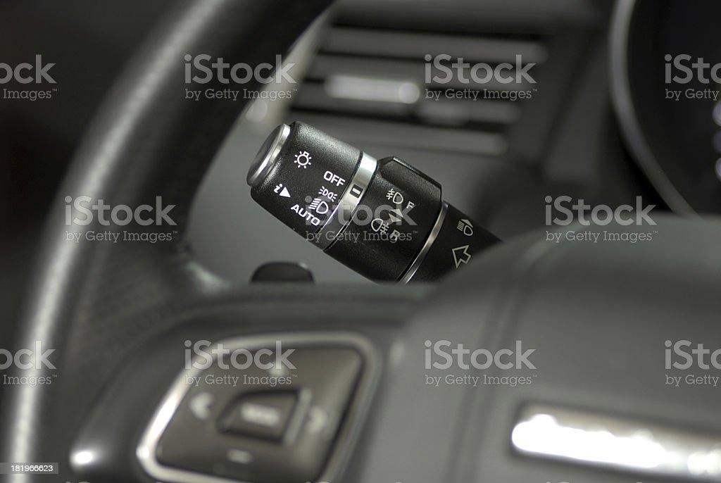 car lighting switch royalty-free stock photo