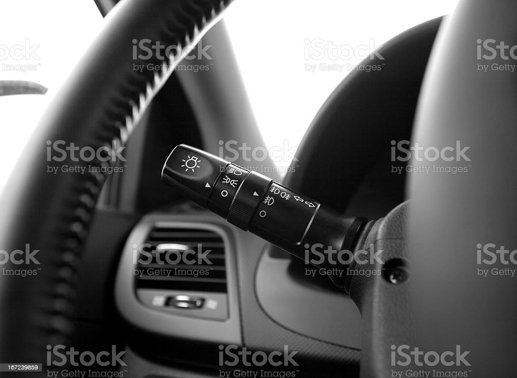 car lights switch stock photo