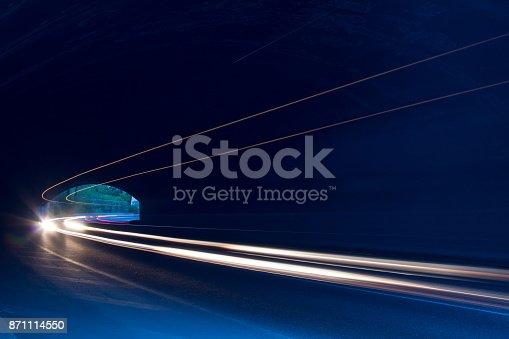 istock Car ligth trails. Art image 871114550