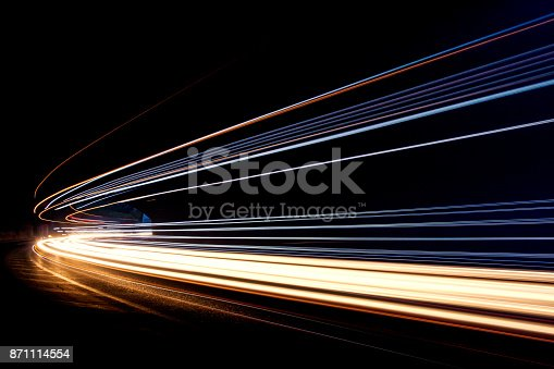 istock Car ligth trails. Art image 871114554