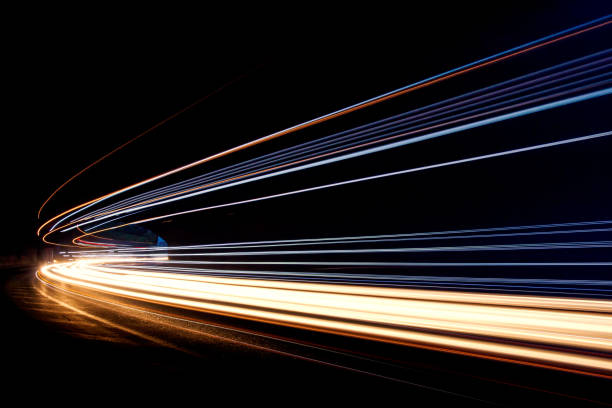 Car ligth trails. Art image Art image.Long exposure photo taken in a tunnel long exposure stock pictures, royalty-free photos & images