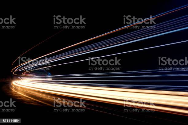 Art image.Long exposure photo taken in a tunnel