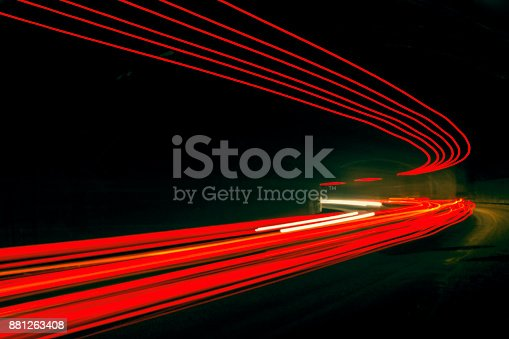 istock Car ligth trails. Art image 881263408