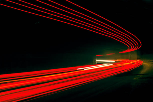 car ligth trails. art image - long exposure stock pictures, royalty-free photos & images