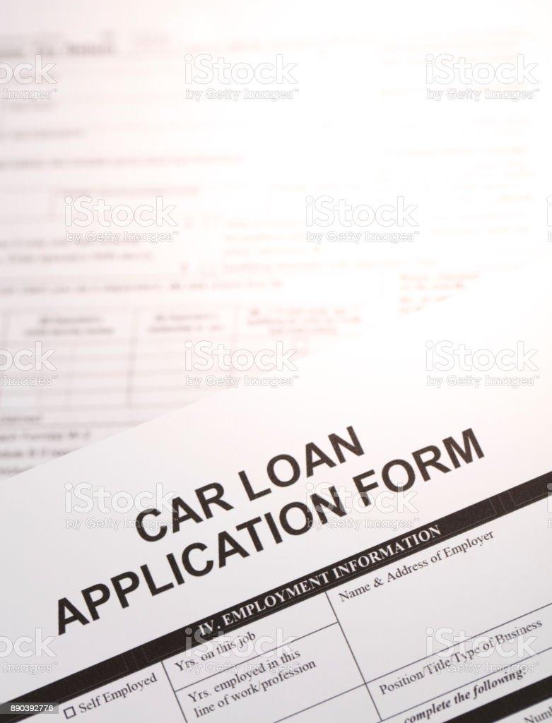 car loan application form