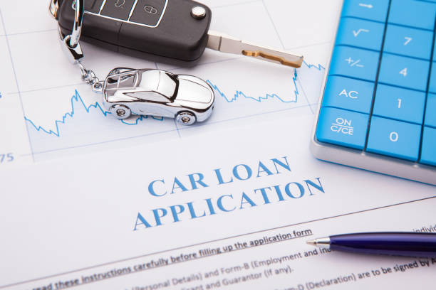 Car loan application Form with pen stock photo