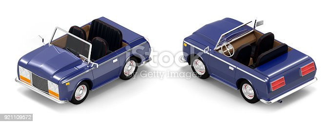 istock car luxury cabriolet dark blue isometric 921109572