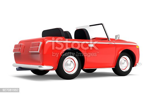 1087080996 istock photo car luxury cabriolet red back 927081552