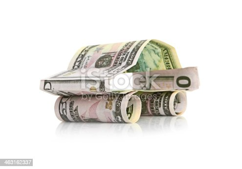 184640907istockphoto car made from dollar isolated on white background 463162337