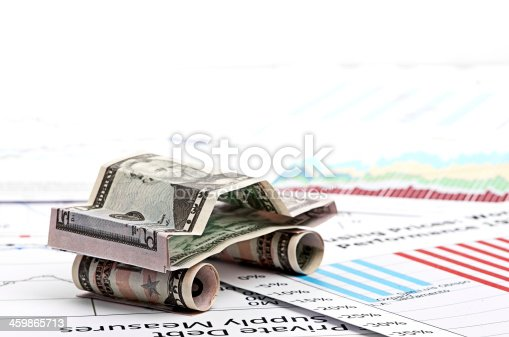 184640907istockphoto car made from dollar 459865713